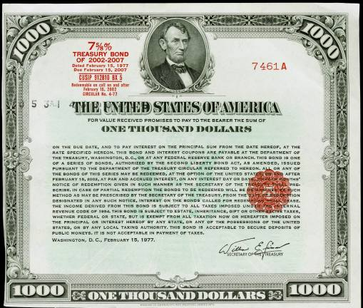 government bonds and securities A bond is an interest-bearing security that obligates the issuer to pay the  by the  us government, which uses the revenue from the bonds to raise capital.